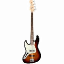 American Pro Jazz Bass Left-Hand, Rosewood Fingerboard, 3-Color Sunburst