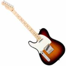 American Pro Telecaster Left-Hand, Maple Fingerboard, 3-Color Sunburst