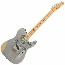Brad Paisley Road Worn Telecaster, Maple Fingerboard, Silver Sparkle