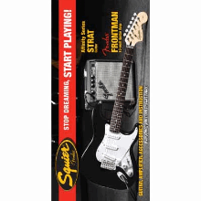Stop Dreaming Start Playing! Set Affinity Series Strat With  Frontman 10G Amp Black 120V