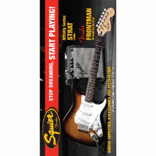 Stop Dreaming Start Playing! Set Affinity Series Strat With  Frontman 10G Amp Brown Sunburst 120V