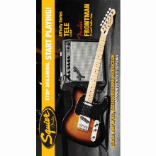 Stop Dreaming Start Playing Set Affinity Series Tele With  Frontman 15G Amp Brown Sunburst 120V