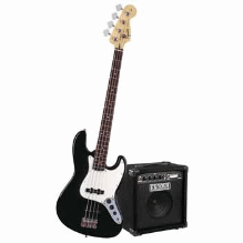 Stop Dreaming Start Playing Set Affinity J Bass With Rumble 15 Amp Black 120V