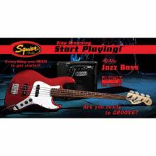 Stop Dreaming Start Playing Set Affinity J Bass With Rumble 15 Amp Metallic Red 120V