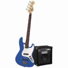 Stop Dreaming Start Playing Set Affinity J Bass With Rumble 15 Amp Metallic Blue 120V