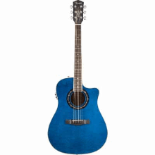 Tbucket 300Ce Rosewood Fingerboard Transparent Blue Quilt Maple