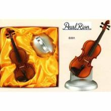 Violin Mini Madera Natural Coleccion C Estuche